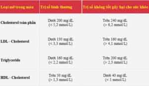 Chỉ số Cholesterol và Triglyceride