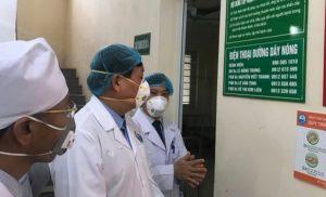 Thứ trưởng Bộ Y tế Đỗ Xuân Tuyên kiểm tra công tác phòng chống dịch bệnh do virus corona tại Vĩnh Phúc.